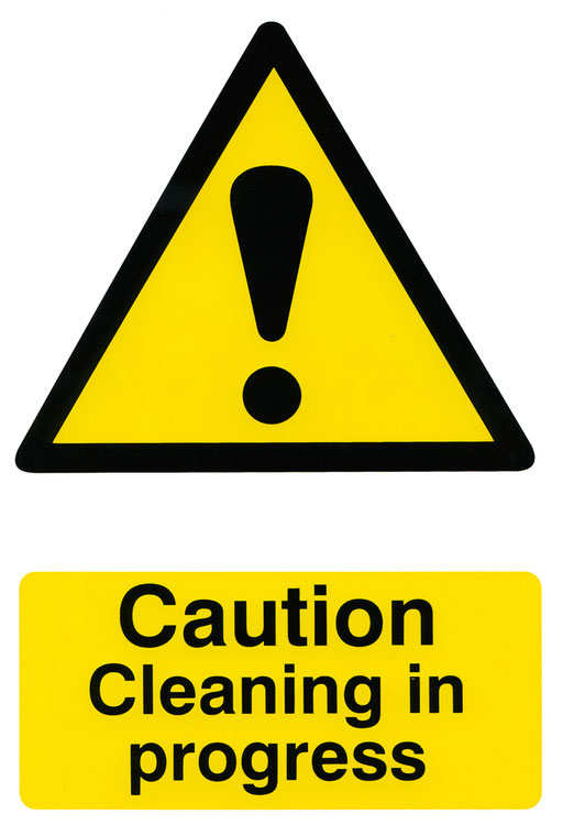 Caution Cleaning In Progress Safety Sign 200Mm X 300Mm