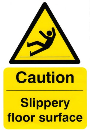 Caution Slippery Floor Surface Safety Sign 200Mm X 300Mm