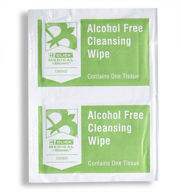 Click Medical Alcohol Free Wipes Pk 100