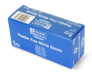 Click Medical Nitrile Gloves 6 Pairs In A Carton