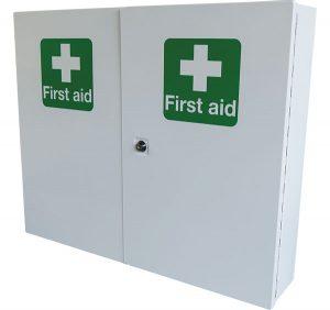 Double Door Metal First Aid Cabinet
