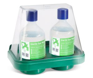 Double Eyewash Stand With 2 X 500Ml Solution