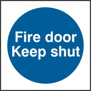 Fire Door Safety Sign Keep Shut Pack of 5 100Mm X 100Mm