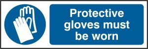 Gloves Must Be Worn Sign Pack of 5 300Mm X 100Mm