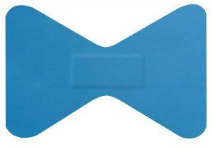 Hygio Plast Blue Detectable Plasters Fingertip Box of 50