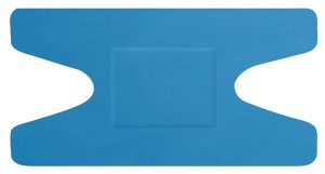 Hygio Plast Blue Detectable Plasters Knuckle Box of 50