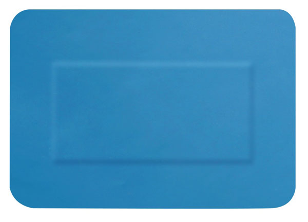 Hygio Plast Blue Detectable Plasters Large Patch Box of 50