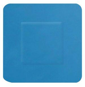 Hygio Plast Blue Detectable Plasters Square Box of 100