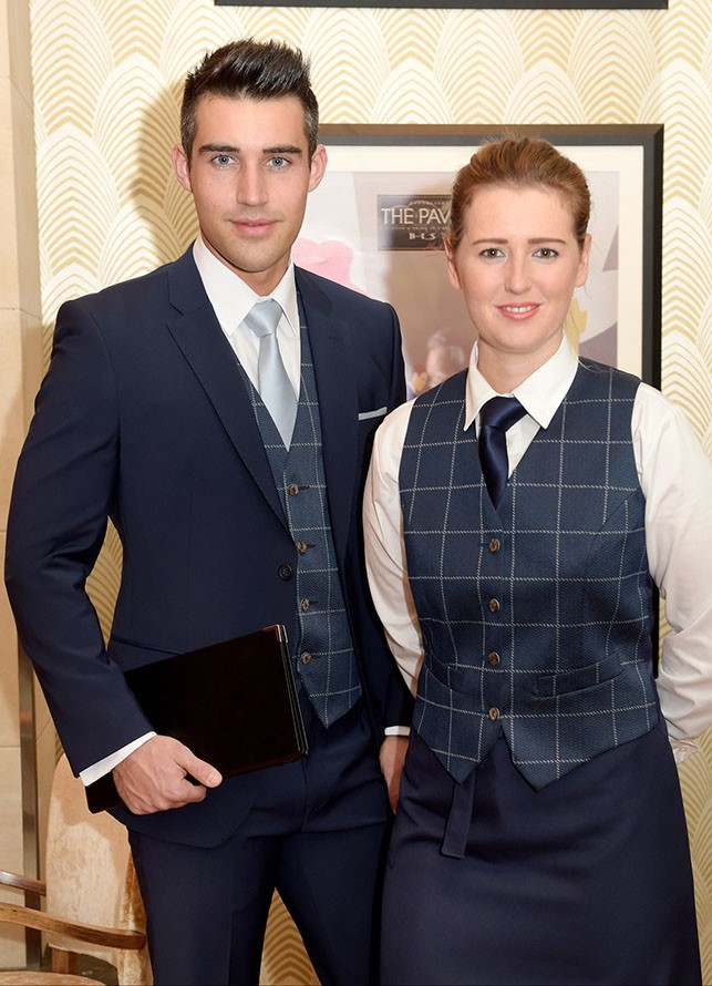 ladies blue check waistcoat