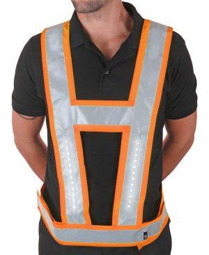 Leds Work Light Vest Harness and Backlight Orange 2016110004