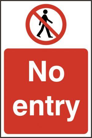 No Entry Sav (Pk5) 200Mm X 300Mm