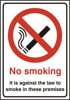 No Smoking Sav (Pk5) 148Mm X 210Mm