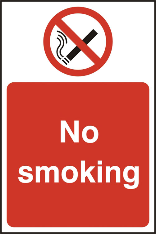No Smoking Sav (Pk5) 200Mm X 300Mm