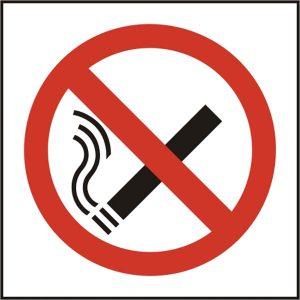 No Smoking Symbol Sav (Pk5) 100Mm X 100Mm