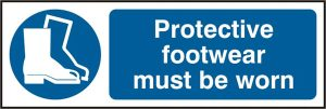 Protective Footwear Sign Sav Pack of 5 300Mm X 100Mm