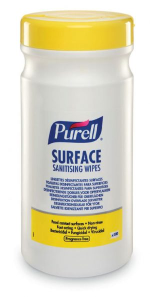 Purell Surface Sanitising Wipes (Tub) Case 6