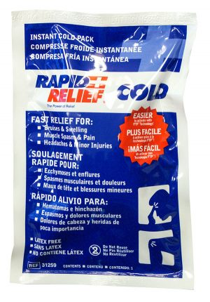 Rapid Relief Instant Cold Pack Large 5inch X 9inch