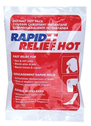 Rapid Relief Instant Hot Pack Small 4inch X 6inch
