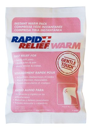 Rapid Relief Instant Warm Pack Gentle Touch Technology Small