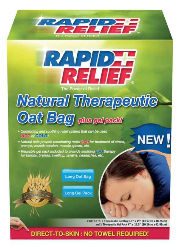 Rapid Relief Natural Therapeutic Oat Bag With Gel Pack Long
