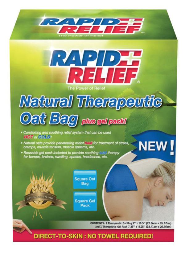 Rapid Relief Natural Therapeutic Oat Bag With Gel Pack Square