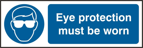 Safety Sign Eye Protection Pack of 5 300Mm X 100Mm