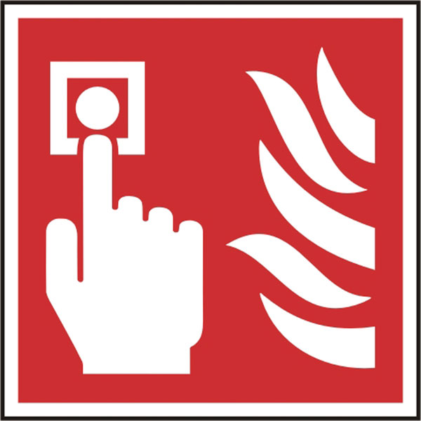 Safety Sign Fire Alarm Call Point Pack of 5 100Mm X 100Mm