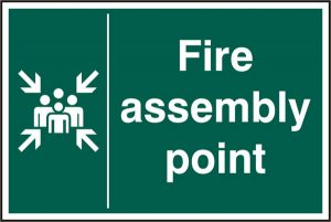 Safety Sign Fire Assembly Point Rigid pvc 200Mm X 300Mm