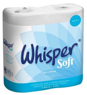Whisper Luxury Toilet Roll 2Ply 40 Rolls Per Case