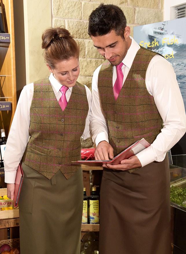 ladies fuchsia tweed waistcoat