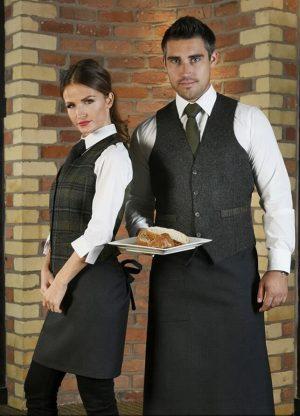 men's charcoal tweed waistcoat