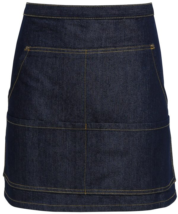 pr125 jeans stitch denim waist apron indigo denim