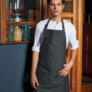 pr126 jeans stitch bib apron