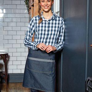 pr128 Domain contrast denim waist apron.jpg