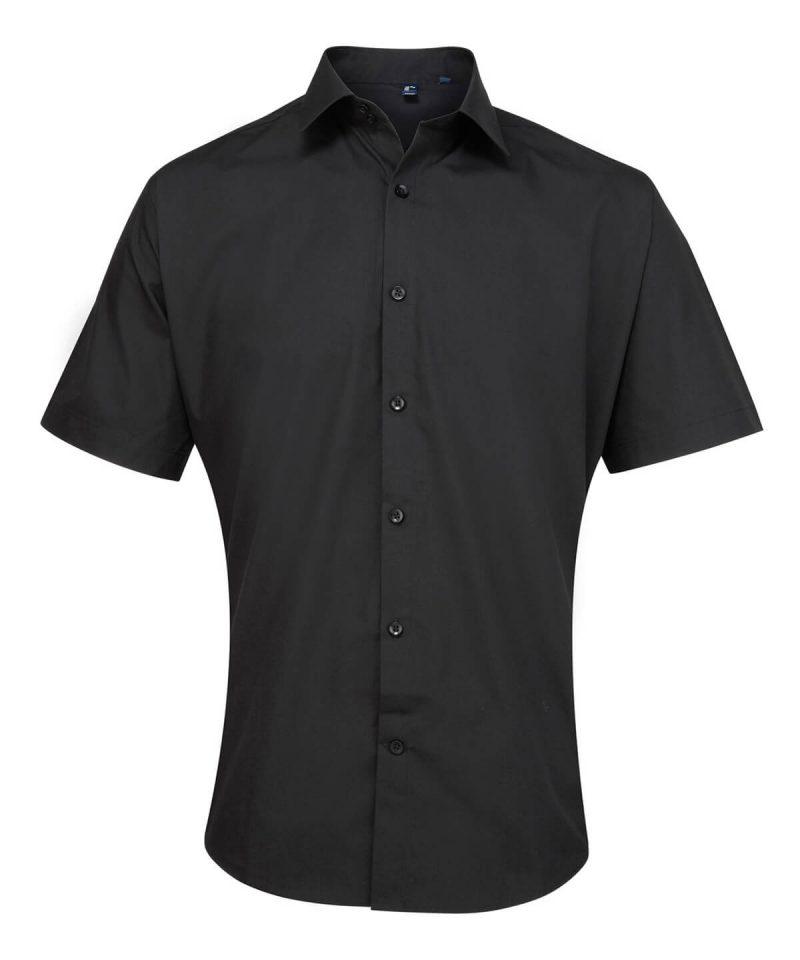 pr209 black Supreme poplin short sleeve shirt.jpg