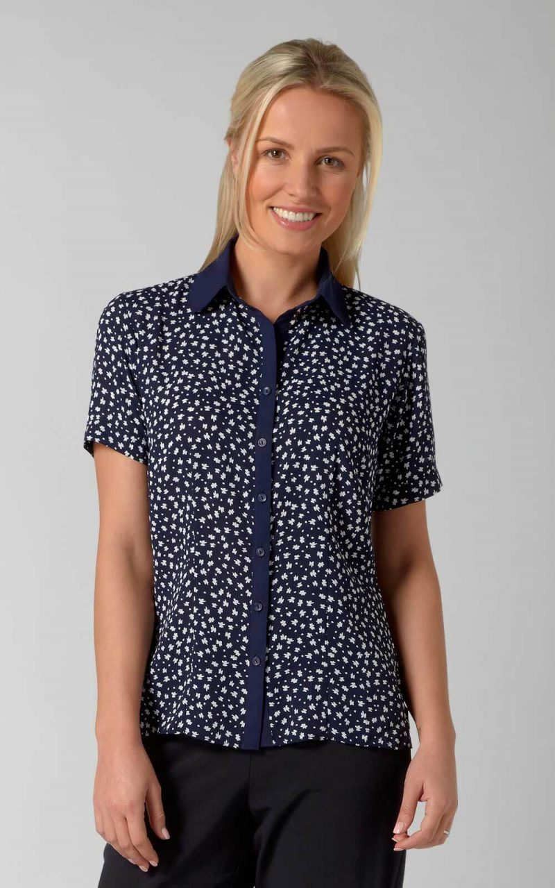VORTEX PIPPA BLOUSE WITH CONTRAST PLACKET