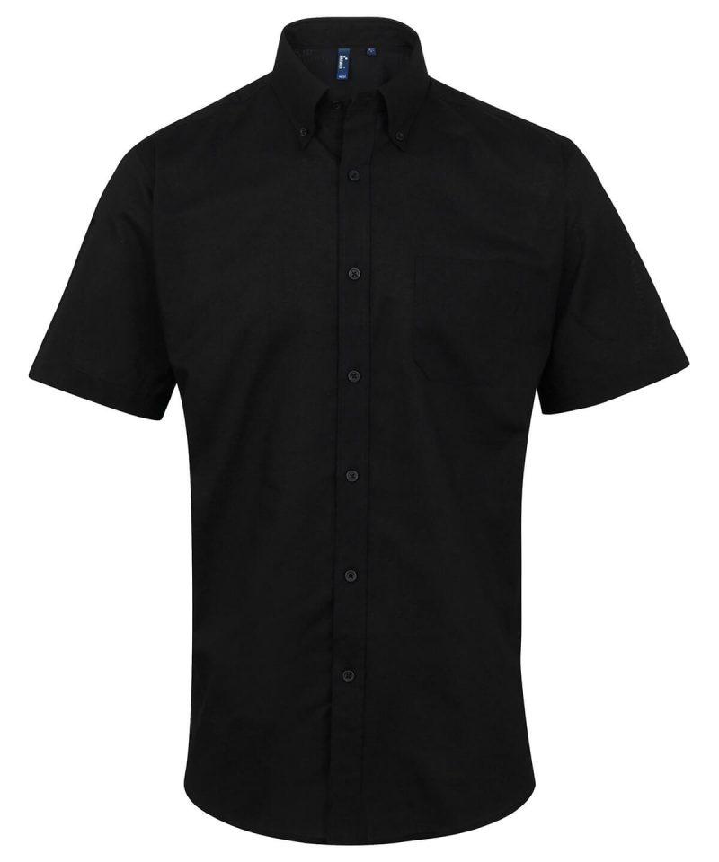 pr236 black Signature Oxford short sleeve shirt.jpg