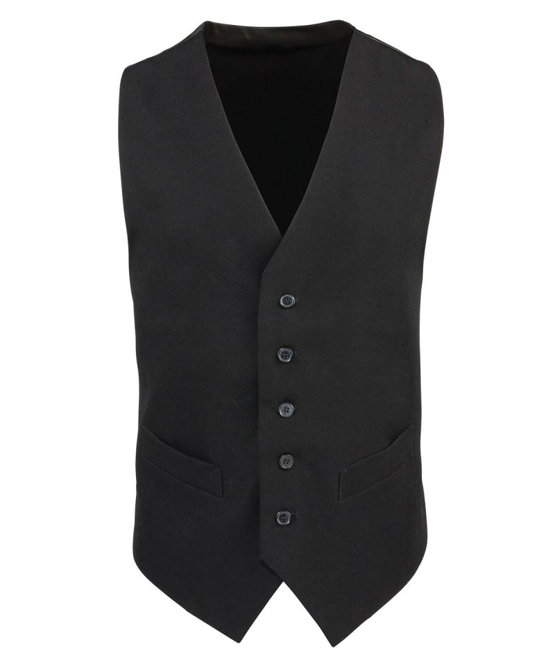 Premier PR622 Mens Polyester Lined Waistcoat