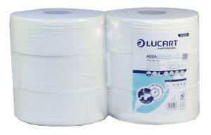 Lucart Aqua Stream 2 Ply Jumbo Toilet Tissue 340m 76mm core 812222